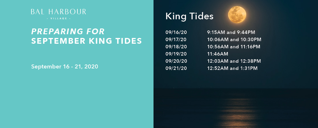 Dates for King Tides in September 2020