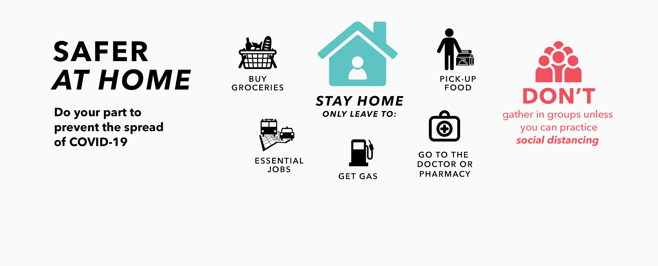 Safer At Home Banner